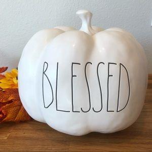 Rae Dunn BLESSED pumpkin